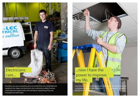 commercial photographer Lancashire preston recycling lives