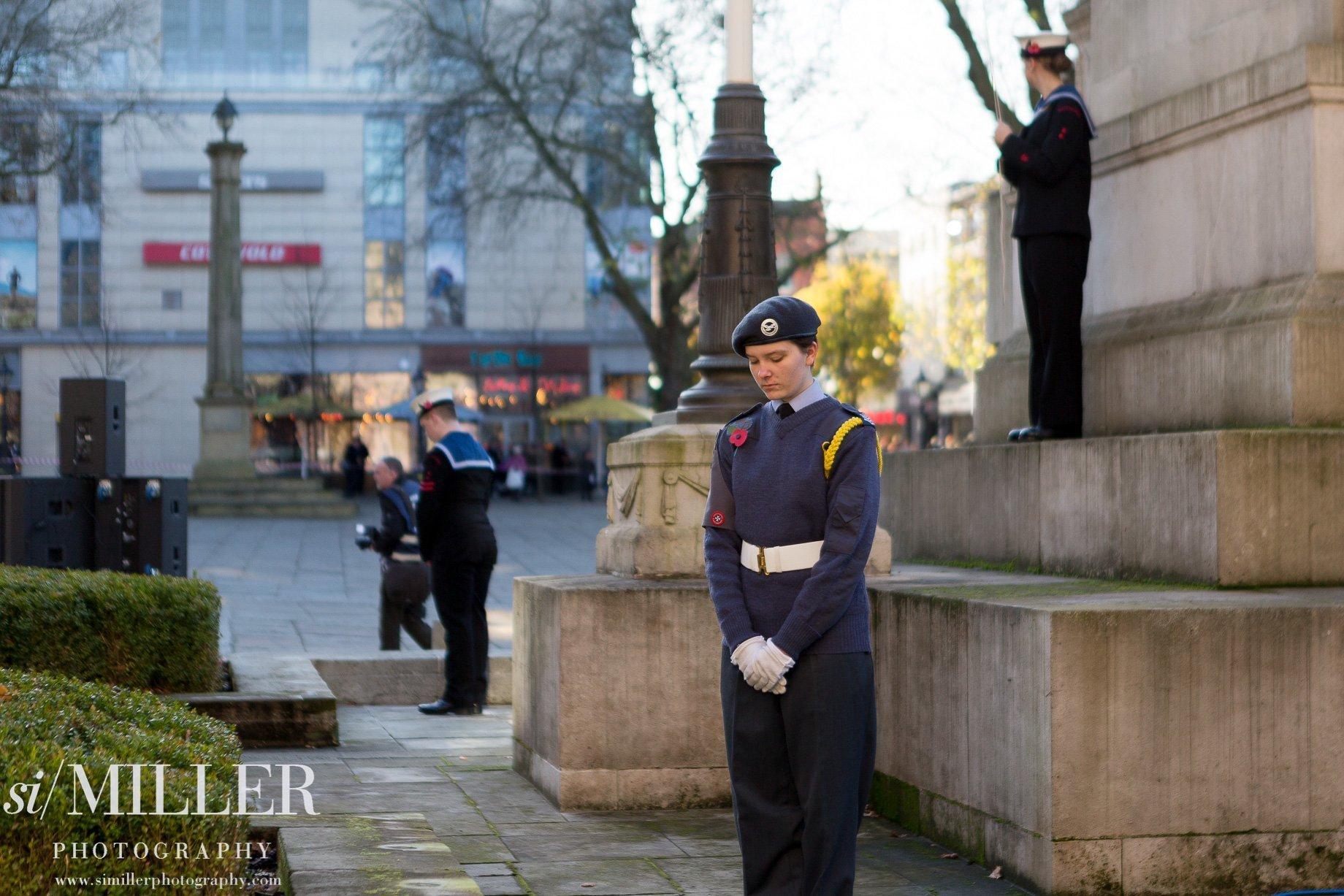 Remembrance Sunday 2017 Preston cenotaph air cadet