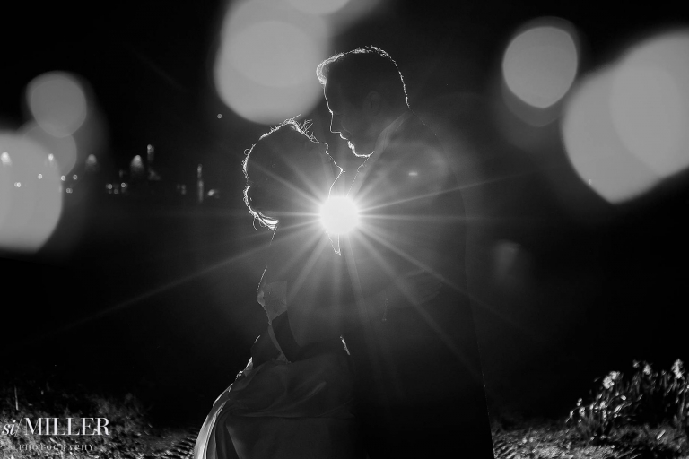 couple light by flash behind at mytton fold