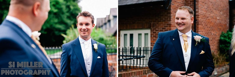 groom and bestman before wedding day
