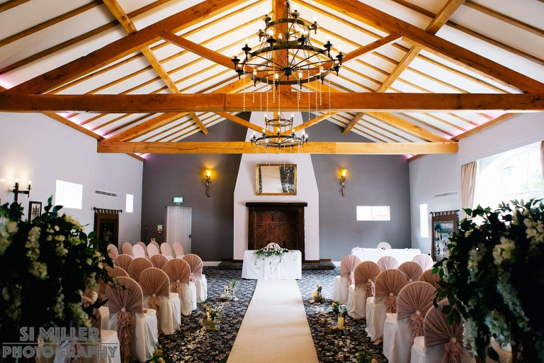 The Villa ceremony room with sun pouring in from the windows