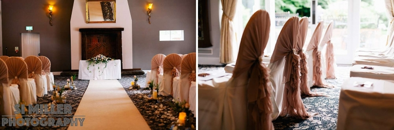 the gorgeous ceremony room at the villa wrea green