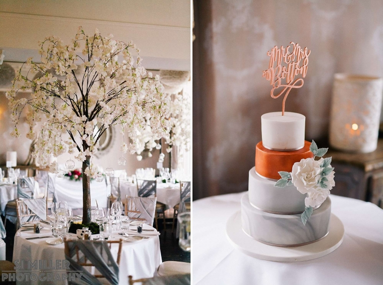 white tree table centre piece