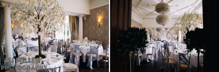 Falcon Manor Wedding breakfast room