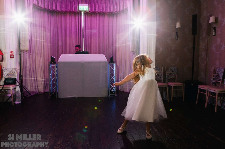 girl dancing before the first dance