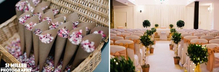 ceremony room Stirk House wedding photographer lancashire