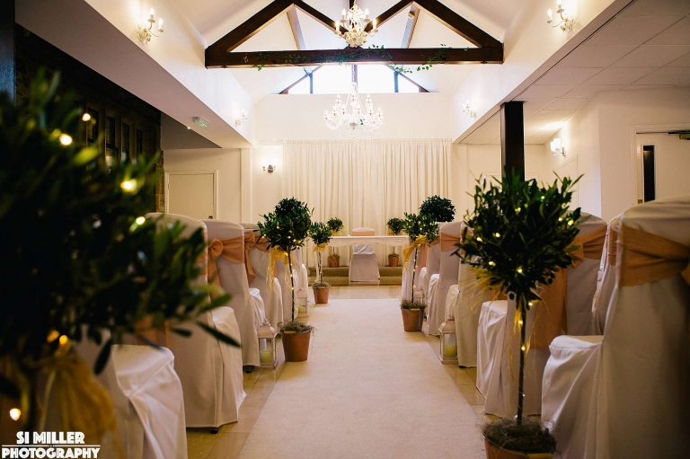 ceremony room Stirk House wedding photographer lancashire