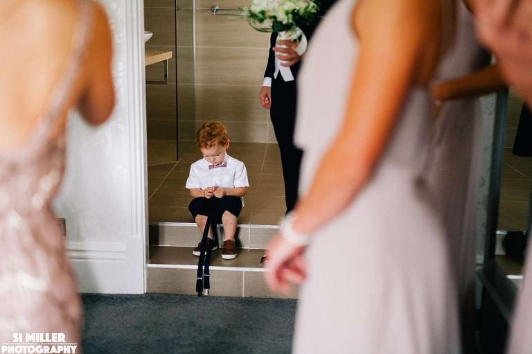 paigeboy waiting Stirk House wedding photographer lancashire