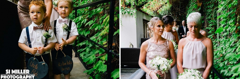 getting ready to walk down the aisle Stirk House wedding photographer lancashire