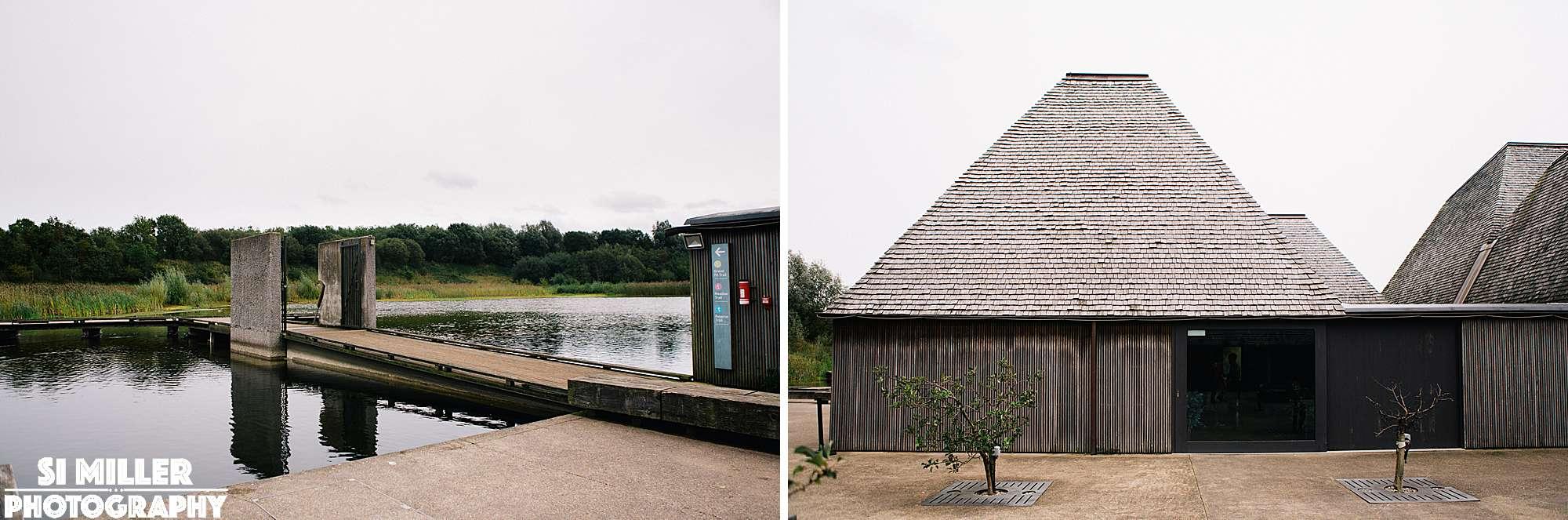 walk bridge to brockholes visitor centre floating island