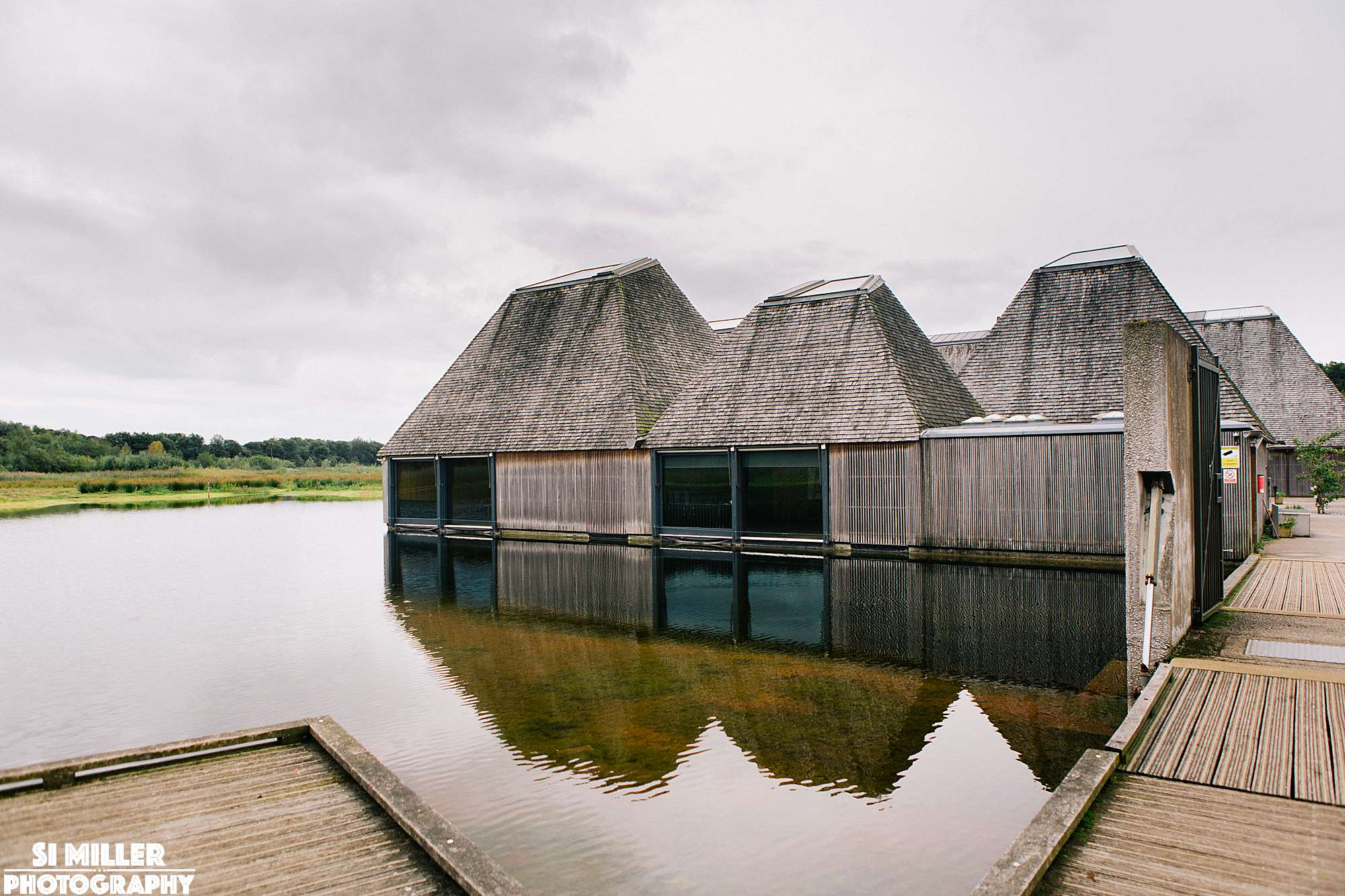 Meadow lake suite with reflection in water