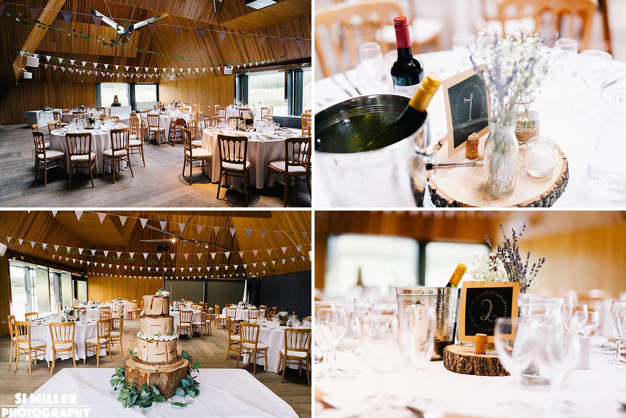 wedding table decorations at brockholes