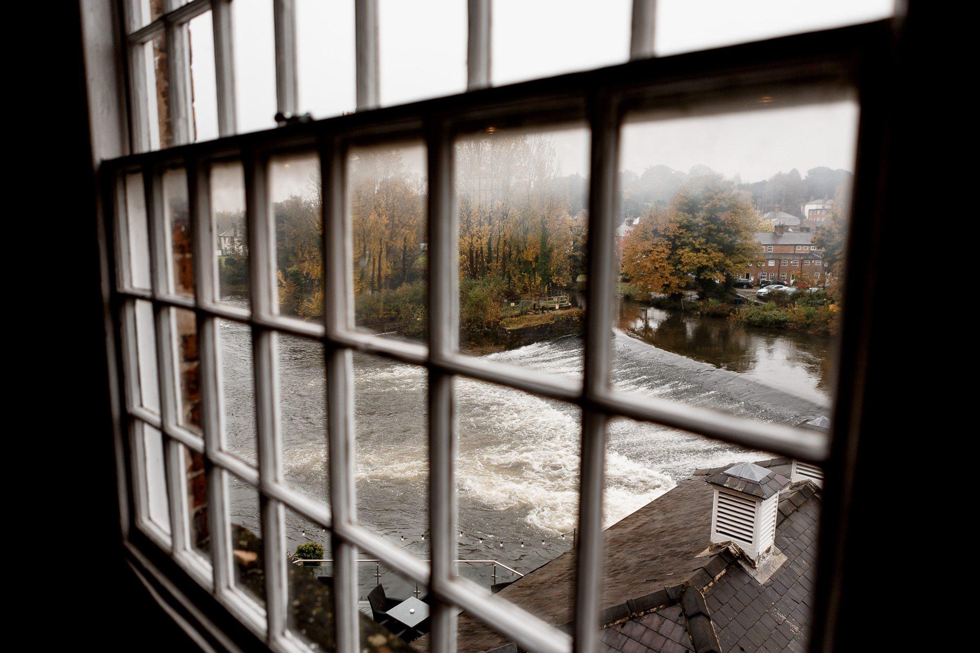 the river derwent through window